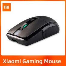 Original xiaomi gaming mouse sem fio 7200dpi rgb backlight jogo óptico recarregável 32bit braço usb 2.4ghz computador portátil mouse