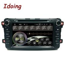 """Idoing 2Din Android 9,0 для Mazda CX9 автомобильный dvd-плеер """" gps навигация 4G+ 64G телефонная связь Bluetooth RDS автомобильное радио быстрая загрузка"""
