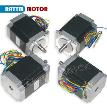 4PCS NEMA23 76mm/ 270Oz-in/ 3A CNC stepper motor stepping motor for CNC Router/Engraving/Milling machine image