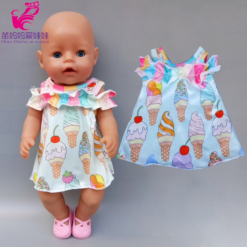 For 43cm  Baby Doll Clothes Dinosaur Flamingo Rompers For 40cm -43cm Baby Doll Clothes Pants Doll Toys Wear Gift