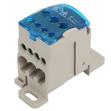 цена на Connectors Terminals Din Rail Terminal Block Distribution Box Electric Wire Connector Universal Power Junction Box pcb