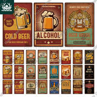 Beer Vintage Tin Sign Metal Poster Plaque Metal Sign Wall Decor for Man Cave Bar Pub Club Iron Painting