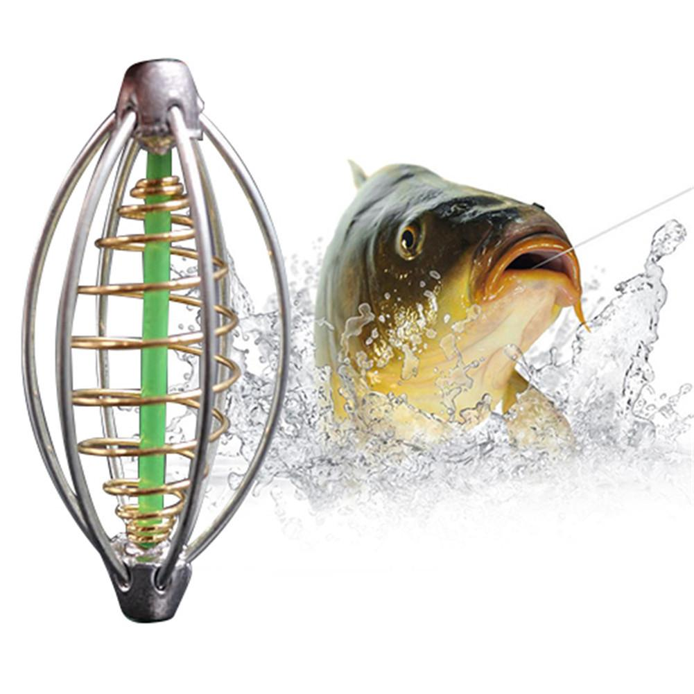 Fishing Hook Fishing Lure Bait Trap Feeder Cage Sharp Fishing Hook Stainless Steel Springs Wire Bait Thrower Fishing Feeder