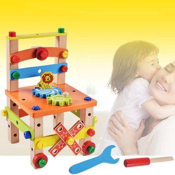 Puzzle dla dzieci montowane drewniane bloczki wielofunkcyjne narzędzie do demontażu zabawki tanie i dobre opinie SRWRGTE CN (pochodzenie) Drewna NONE F42E2SS400785