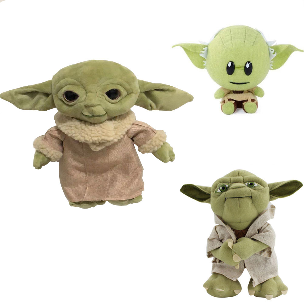 Star Wars Force Awakens Anime Master Baby Yoda 18-30cm Plush Toy Cartoon Soft Animals Stuffed Doll Gift For Child Adult