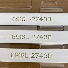 3 PCS tira Retroiluminação LED para LG 43LH5100 43LH615V 43LH7500 43LH604V 43LH570V 43LH590V 43LH510V 43LH5700 6916L 2743A 2743B 2550A
