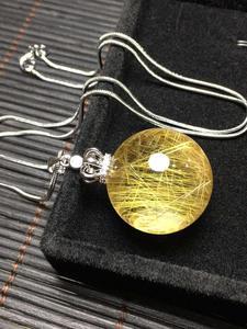 Image 5 - ธรรมชาติหินควอตซ์จี้ Ball ไทเทเนียมพลอย AAAAA 24 มม.จี้คริสตัลจี้