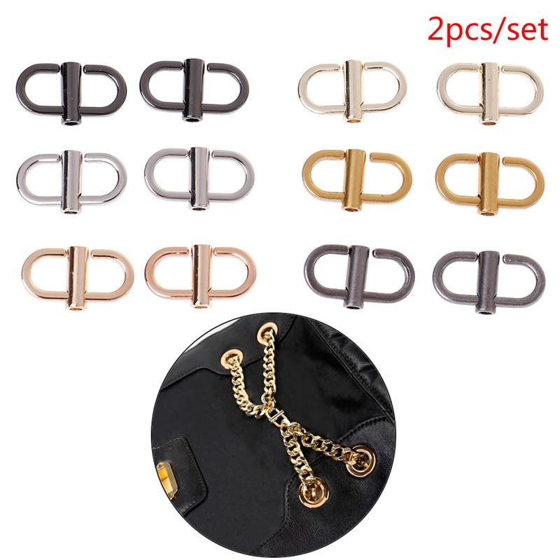 2Pcs/lot Metal Handbags Shoulder Chain Adjustable Shortening Buckle Bag Hook Bag Hardware Accessories Wholesale