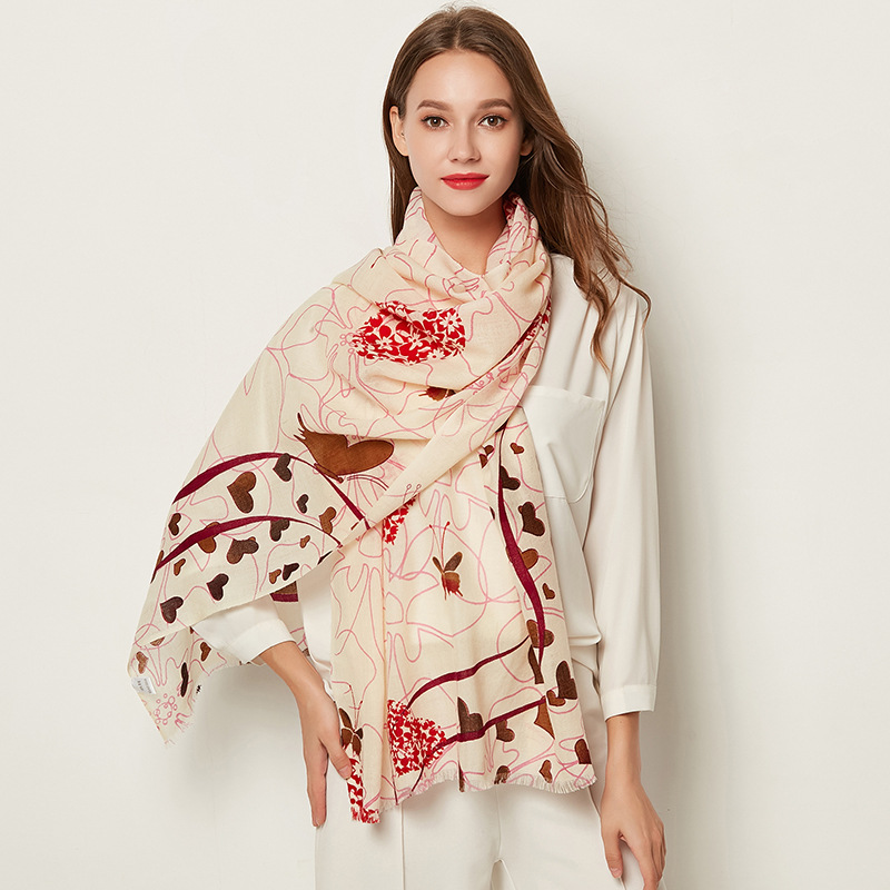 Lady Women Cashmere Scarves Double-purpose Air-conditioning Hourse Shawls