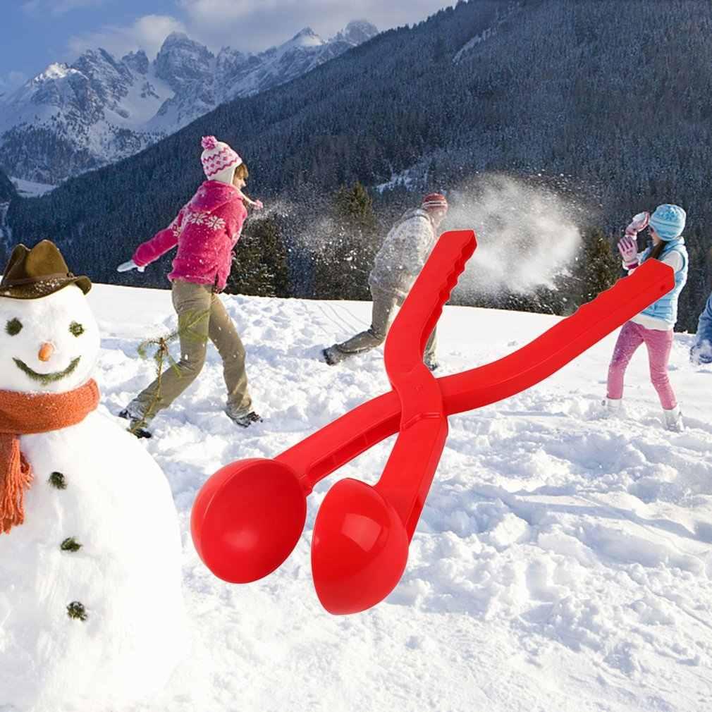 1pc 겨울 눈 공 제조 업체 모래 금형 도구 어린이 장난감 눈 특종 제조 업체 눈덩이 클램프 클립 야외 스포츠 어린이 장난감 무작위