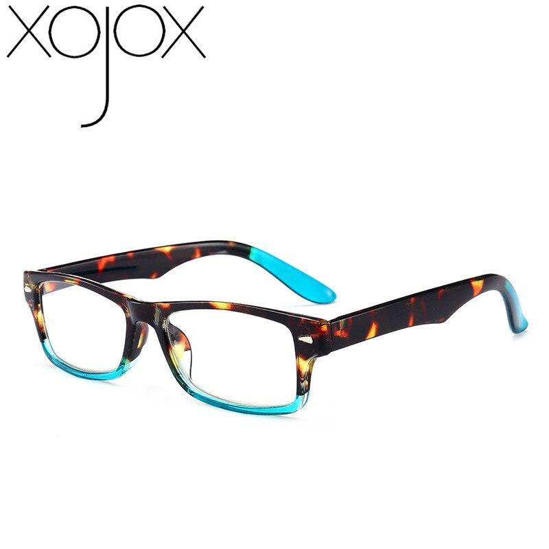 Xojox óculos de leitura quadrados mulheres homens lente clara ultraleve óptica presbiopia masculino hyperopia + 1.0 1.5 2.0 2.5 3.0 3.5