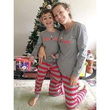 Семейный Рождественский пижамный комплект из 2 предметов для мамы, папы, детей, новорожденных, одежда для родителей и детей Домашняя одежда для сна с длинными рукавами подарок на год