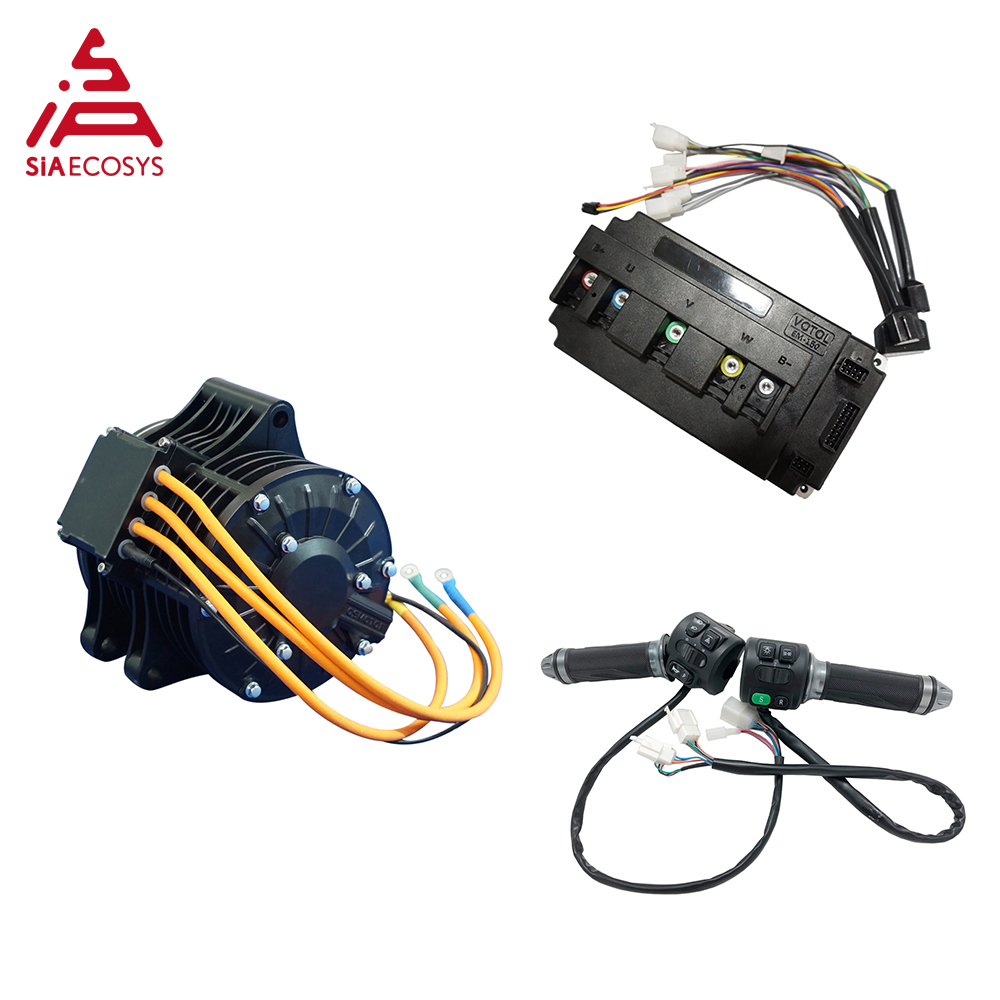 QS 138 3000W 72V 100KPH new appearance mid drive motor with motor controller and Z6 throttle