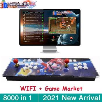 3D Pandora Saga Box EX WIFI 8000 in 1 Save Function Multiplayer Joysticks Retro Arcade Game Console Cabinet Support 4 Players