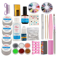 Volledige Acryl Glitter Poeder Lijm Franse Nail Art UV Gel Tips Kit Kit-#168(China)
