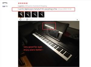 Image 5 - 책상 램프 LED 유연한 구즈넥 클램프 암 도면 조명 10 밝기, 3 색 모드, 5W 피아노 머리판 회의