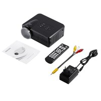Oferta Mini LED proyector de vídeo portátil TV DVD proyectores para juegos LCD HD Video 3D casa