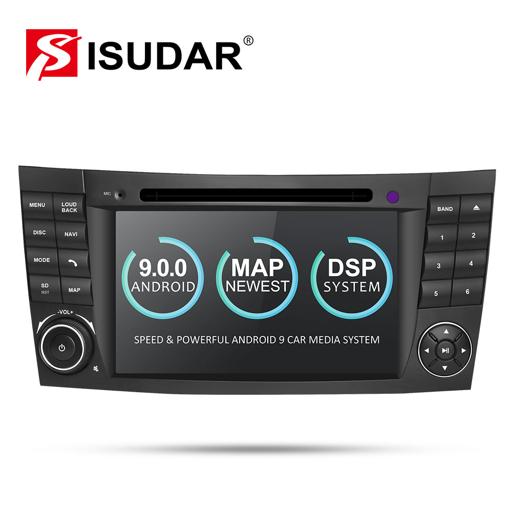 Isudar Two Din Car Multimedia Player Android 9 DVD Player For Mercedes/Benz/E-Class/W211/E300/<font><b>CLK</b></font>/<font><b>W209</b></font>/CLS/W219 GPS <font><b>Radio</b></font> CANBUS image