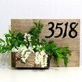 10cm Moderne Haus Anzahl Tür Hause Adresse Mailbox Zahlen für Haus Digitale Tür Im Zeichen 4 Zoll. #0-9 Aliuminum Schwarz