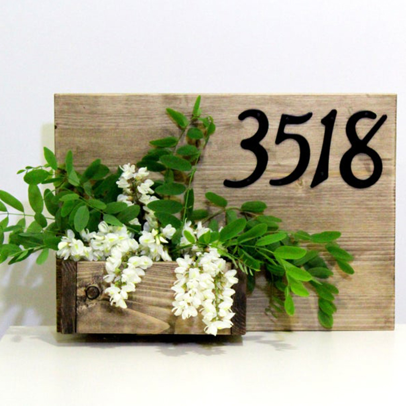 """4"""" 101mm House Number Door Address Number Digits Aluminum Nail Fixed Mailbox Address Sign #0-9 BLACK(China)"""
