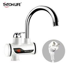 TINTON yaşam anında Tankless elektrikli sıcak SU ISITICI musluk mutfak anında isıtma musluk SU ISITICI LED ab tak
