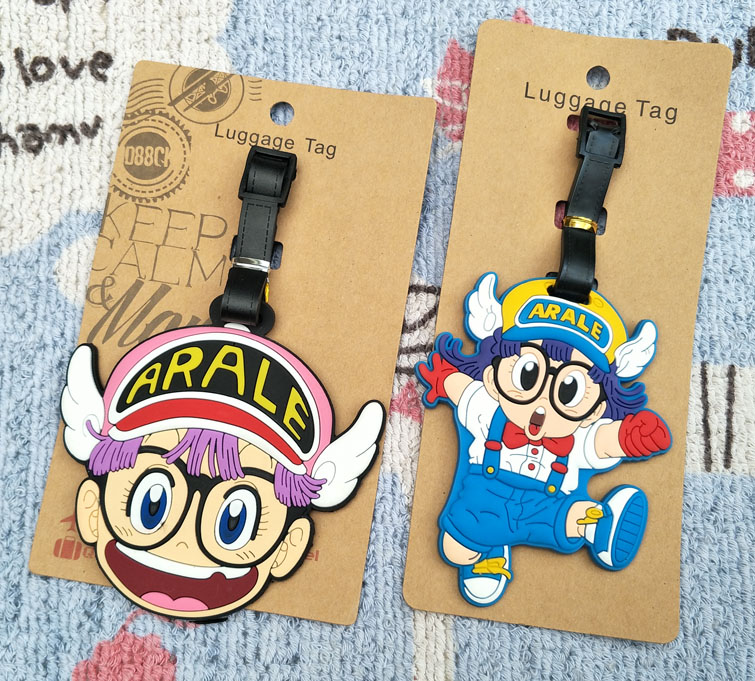 1pcs Arale Girl Anime Travel Brand Luggage Tag Suitcase ID Address Portable Tags Holder Baggage Label New