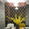 58Pcs DIY 3D Mirror Wall Stickers Diamonds Triangles Acrylic Wall Mirror Stickers for Kids Room Living Room Home Decoration 2