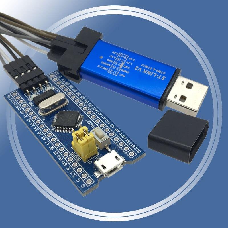 Módulo de placa de desenvolvimento, sistema mínimo, placa de desenvolvimento, módulo STM32F103C8T6 ARM STM32 para Arduino Kit DIY, ST-Link V2 Mini STM8, simulador de download