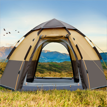 Автоматическая палатка 3-8 человек палатка для кемпинга, легкая мгновенная Настройка портативный рюкзак для защиты от солнца, путешествия, Пешие прогулки шестиугольная палатка