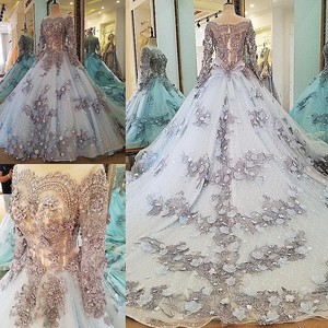 Image 4 - LS00034 evening dress lace beading ball gown long party formal dress organza robe de soiree abendkleider 2018 real photos