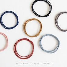 Mix10 простой ультра-стрейч волос группа аксессуары заниженной талией сплошной цвет ручной работы оголовье резины для завязывания