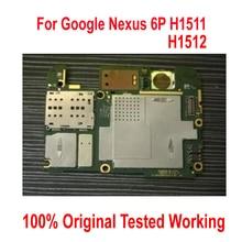 מקורי עבודה נעילת Mainboard עבור Google Nexus 6P H1511 H1512 Nexus6P האם היגיון לוח כרטיס דמי מעגלים להגמיש כבל