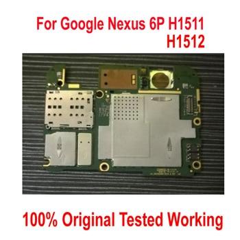 Original Working Unlock Mainboard For Google Nexus 6P H1511 H1512 Nexus6P motherboard Logic Board card fee Circuits Flex Cable