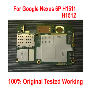 Image 1 - Originele Werken Unlock Moederbord Voor Google Nexus 6P H1511 Nexus6P moederbord Logic Board card vergoeding Circuits Flex Kabel
