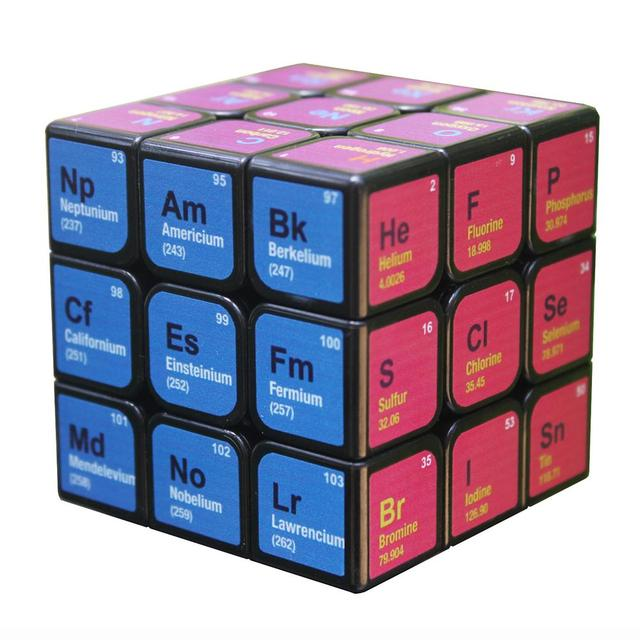 Professional Cube 3x3x3 5.6CM Speed For Magic Cube Chemical Element Periodic Table 3rd-order Cube Learning Formula Education Toy 1