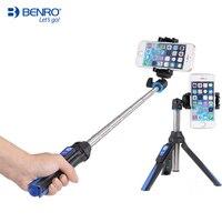 Benro-Palo de selfi extensible MK10 4 en 1, soporte en vivo con Control remoto por Bluetooth Para IPhone, GoPro, Huiwei, MI