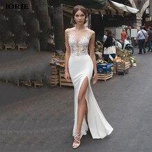 Lorie Della Sirena Abiti Da Sposa 2020 In Pizzo Laterale Split Abiti Da Sposa In Pizzo Backless Vestito Da Sposa vestido de noiva boho