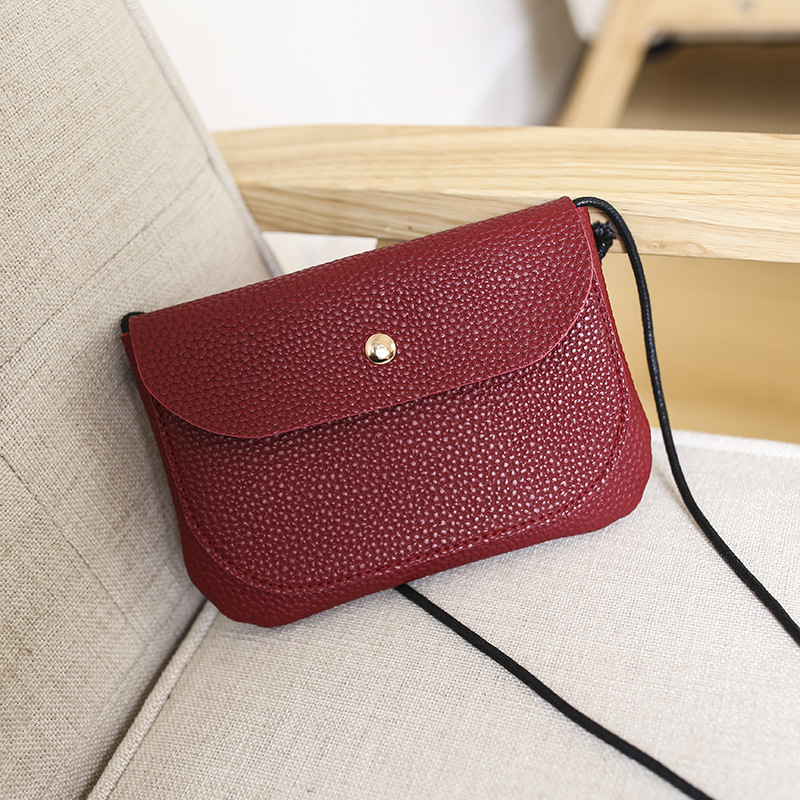 2019 Fashion Women bag Solid Color bag Leather purses Soft bags Phone Pocket Girl Party small Cosmetic bag in Cosmetic Bags Cases from Luggage Bags