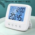 Цифровой измеритель температуры и влажности с ЖК-дисплеем, электронный гигрометр с подсветкой, термометр, домашняя комнатная Метеостанция ...