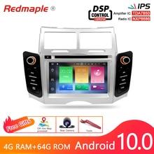 IPS Android 10.0 Car DVD player GPS Navigation Multimedia Stereo Per Toyota Yaris 2005 2011 Auto Radio Audio Bluetooth unità principale
