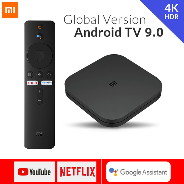 Global Version Original Xiaomi Mi TV Box S 4K Ultra HD Android 9.0 2GB + 8GB WiFi google Castสมาร์ทชุดควบคุมTop Media Player