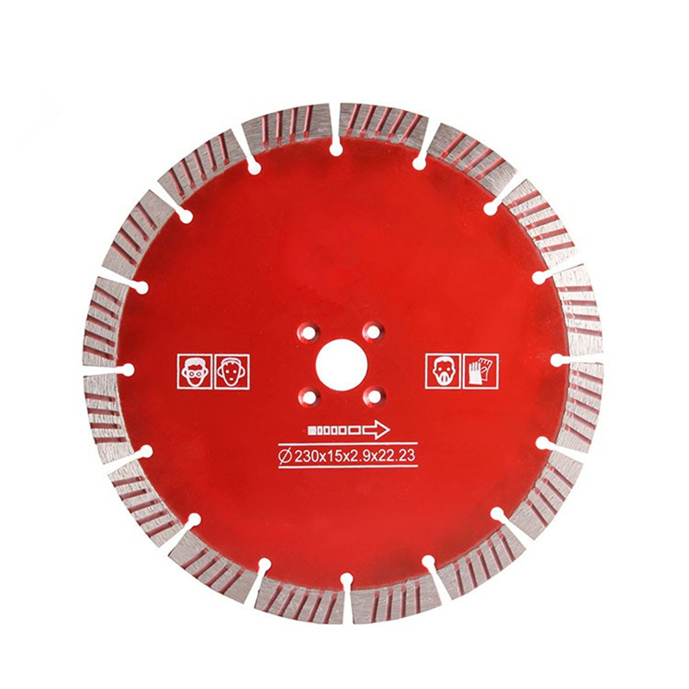 DB40 Sintered Hand Saw Blades 9 Inch D230mm Hot Press Concrete Turbo Segments Cutting Disc Diamond Cutting Wheel For Stone 10PCS