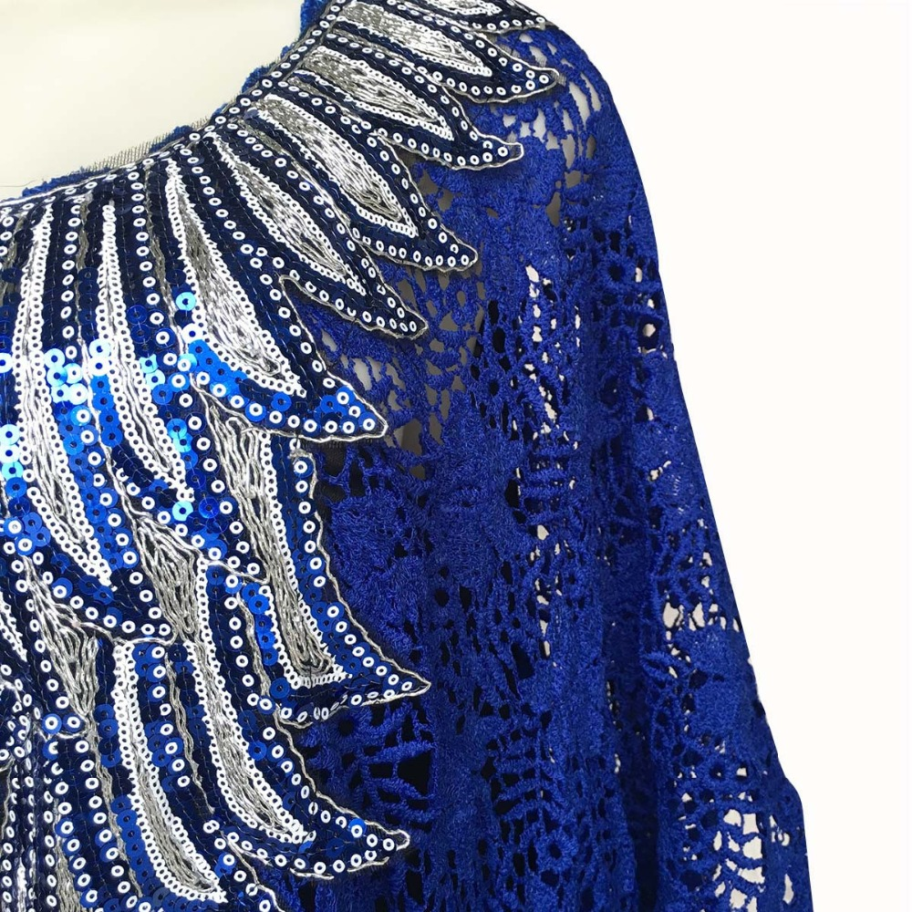 African Dresses for Women Dashiki Lace African Clothes Bazin Broder Riche Sexy Embroidery Sequins Robe Evening Long Dress 2020 06