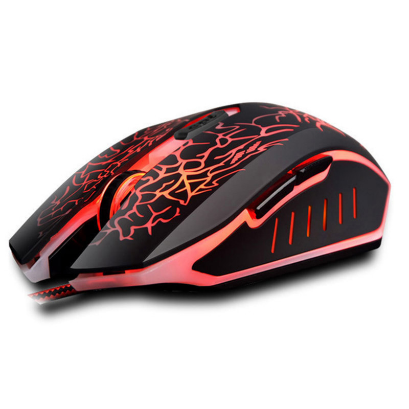 Comfast Mouse Wired 3200 DPI USB <font><b>LED</b></font> Gaming Mouse <font><b>1.5m</b></font> 6 bottons USB gaming mouse <font><b>LED</b></font> laptop Notebook Mice 1pc 3D Game Mouses image