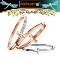 Women Bracelet 1 series Wide and narrow version Zircon S925 Jewelry 2020 new popular accessories Couple gift