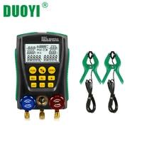 DUOYI DY517 Air Conditioning Pressure Gauge Refrigeration R410A Digital Vacuum Pressure Manifold TESTO Tester Meter HVAC Temper