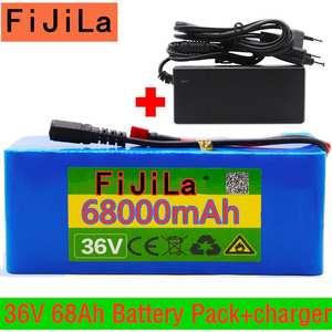 Battery-Pack Ebike 42v-Charger Electric-Bike-Bms 10S4P 42v60000mah High-Power 500W 100%Original