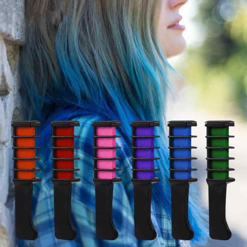 Cheveux temporaires Mini Crayon craies 10 couleurs cheveux beauté teinture Pastel peigne Kit