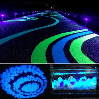 500 sztuk ogród świecące w ciemności świecące kamienie dla chodników akwarium z roślinami Decor Glow kamienie Fish Tank Garden świecące kamienie tanie i dobre opinie CN (pochodzenie) Z010 Other