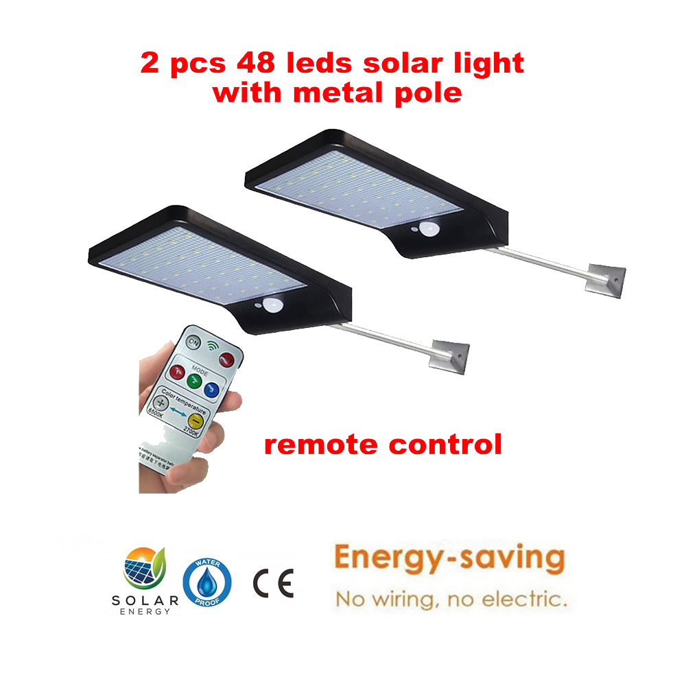 2/4pcs LED Solar Powered Lamp PIR Motion Sensor Night Light Outdoor Waterproof For Garden Patio Yard Emergency Security Wall Lig
